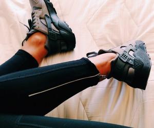 shoes, sneakers, and nike huarache image