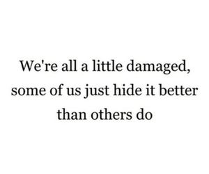 damaged, hide, and quote image