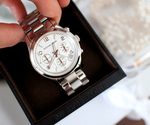watch, silver, and Michael Kors image