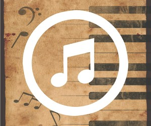backround, music, and music paper image