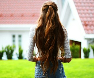 hair, girl, and long image