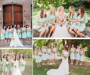 bridesmaid dresses and mint green wedding image