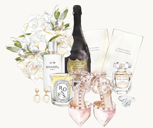 champagne and chanel image