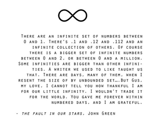 the fault in our stars, tfios, and infinity image