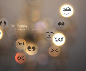happy and text image