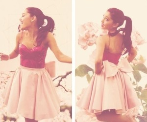 ariana grande, dress, and pink image