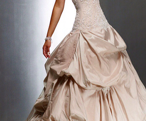 dress, pretty, and gown image