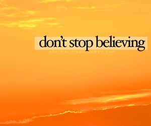 journey, sunset, and don't stop believing image