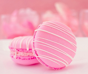 macaroons, pink, and yummy image