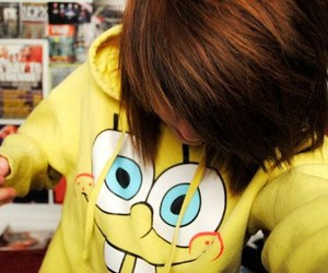 girl, hair, and spongebob image