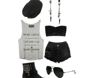 black, chlothes, and cool image