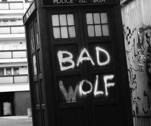 bad wolf, doctor who, and the doctor image