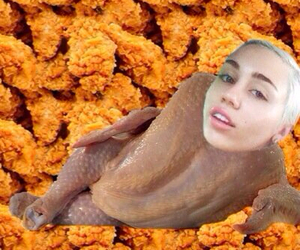 miley cyrus, Chicken, and funny image
