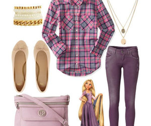 outfit, fashion, and rapunzel image