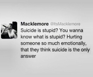 Best, macklemore, and suicide image