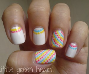 nails, nail art, and dots image