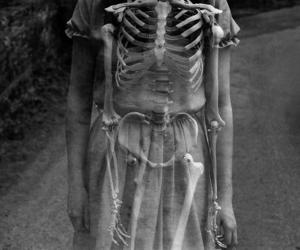girl, skeleton, and bones image
