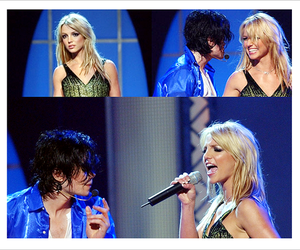 britney spears, live, and michael jackson image