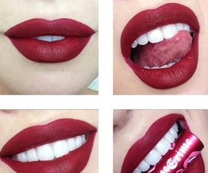 lips, makeup, and lipstick image