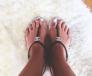 chanel, sandals, and fashion image