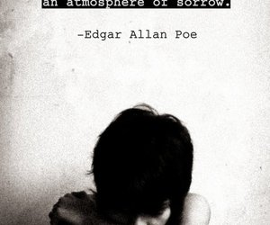 androgynous, black and white, and edgar allan poe image