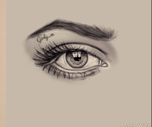 eye, sketch, and girly_m image