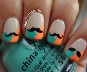 nails, beautiful, and moustache image