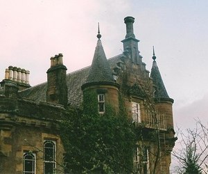 castle, house, and vintage image