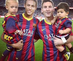 Thiago, neymar jr, and lionel messi image