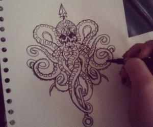 art, drawing, and ink image