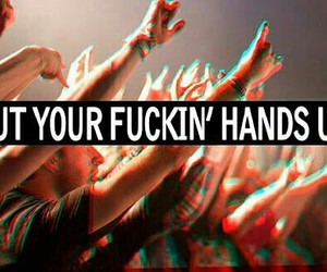 party, hands, and concert image