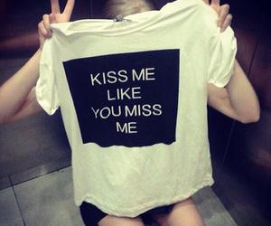 black, kiss, and tshirt image