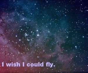 wish, fly, and universe image