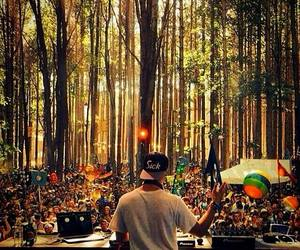 festival, forest, and party image