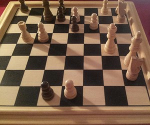 black and white, chess, and board image