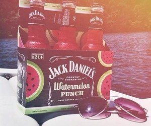 summer, watermelon, and jack daniels image