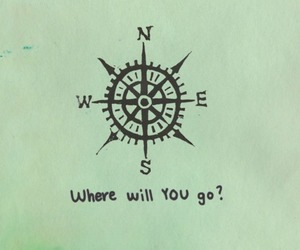 compass, north, and quote image