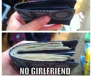 funny, girlfriend, and money image