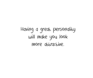 attractive and personality image