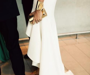 dress, white, and gold image