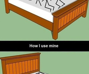 bed, funny, and lol image