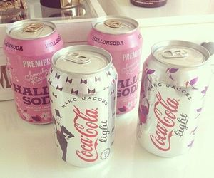 coca cola, pink, and drink image