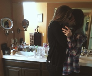love, girl, and lesbian image