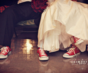 converse, wedding, and love image