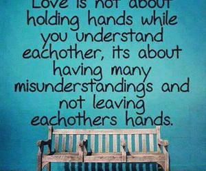 love, quote, and hands image