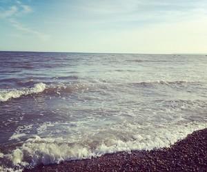 beach, beautiful, and water image