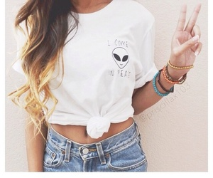 fashion, alien, and peace image