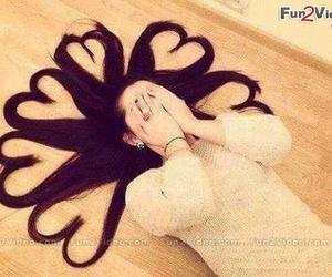 hair, heart, and hearts image