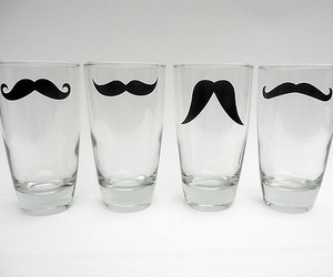 mustache, moustache, and glass image