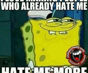 hate, spongebob, and funny image